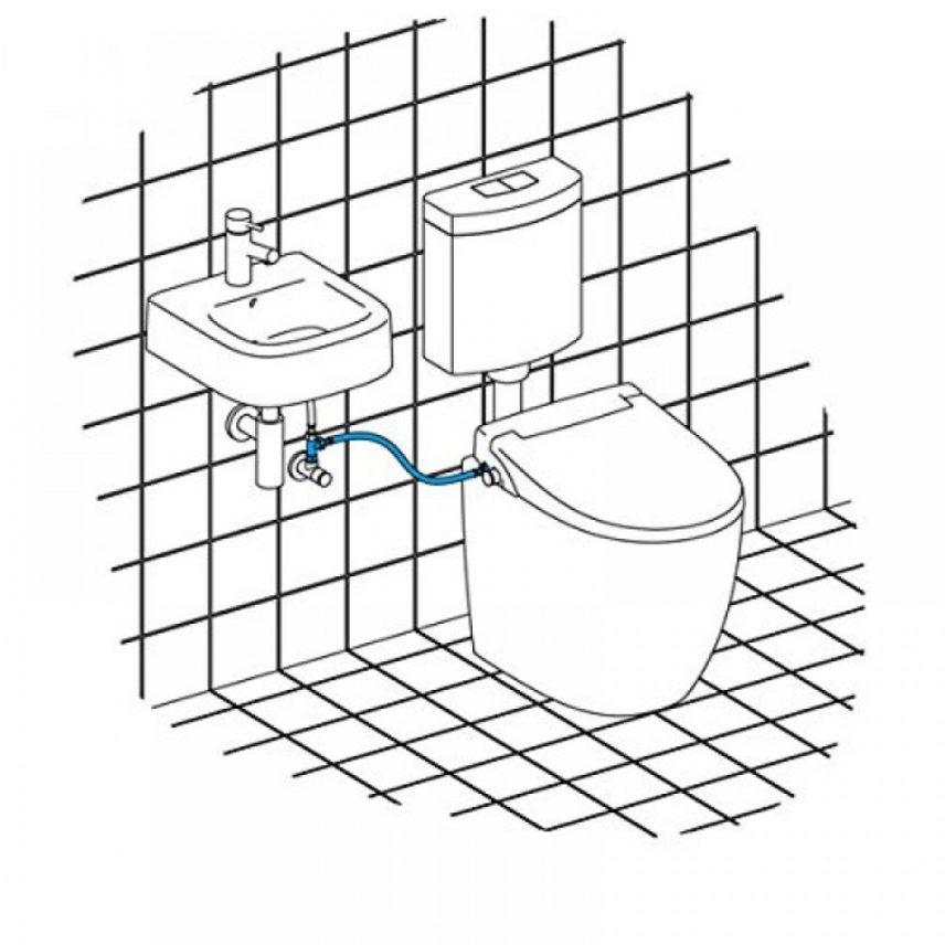 Installatie-douchewc-fontein-wasbak