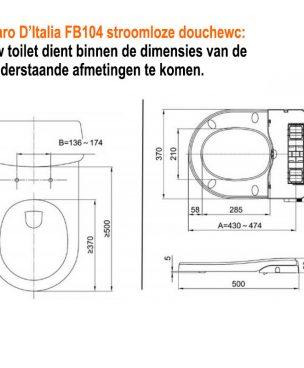 Maro FB 104 technische tekening