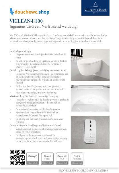 Villeroy&Boch flyer viclean-I 100 douchewc