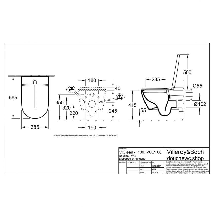 ViClean-I-100-montage-tekening-installatie