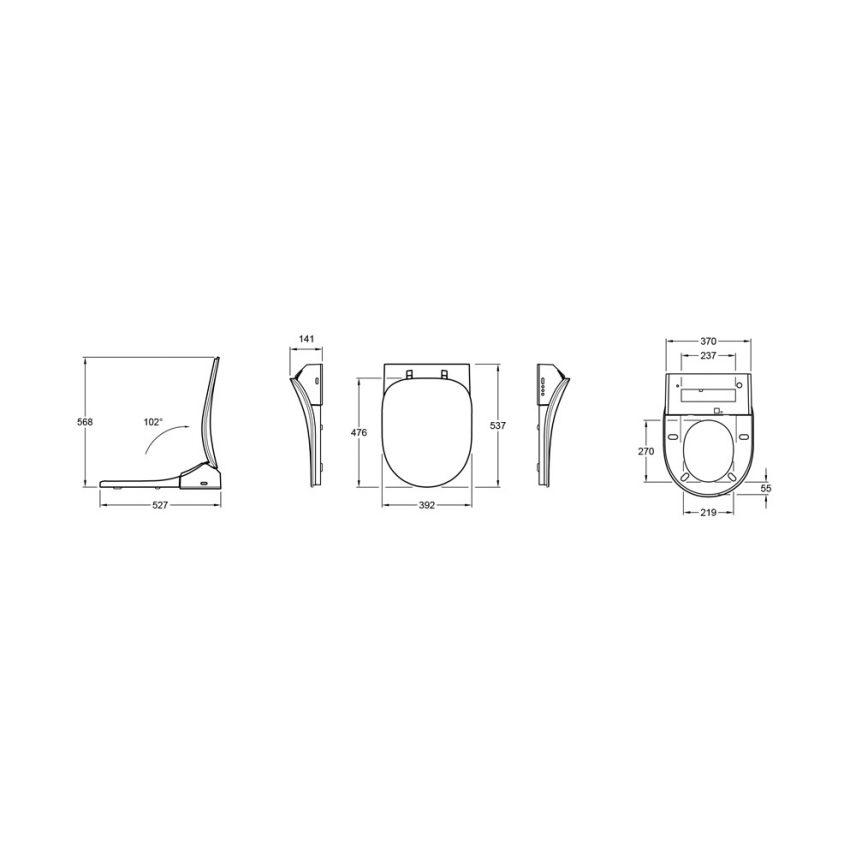 ViClean-L technische tekening installatie montage