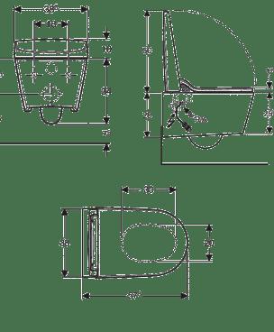 Technische tekening Geberit Aquaclean Sela